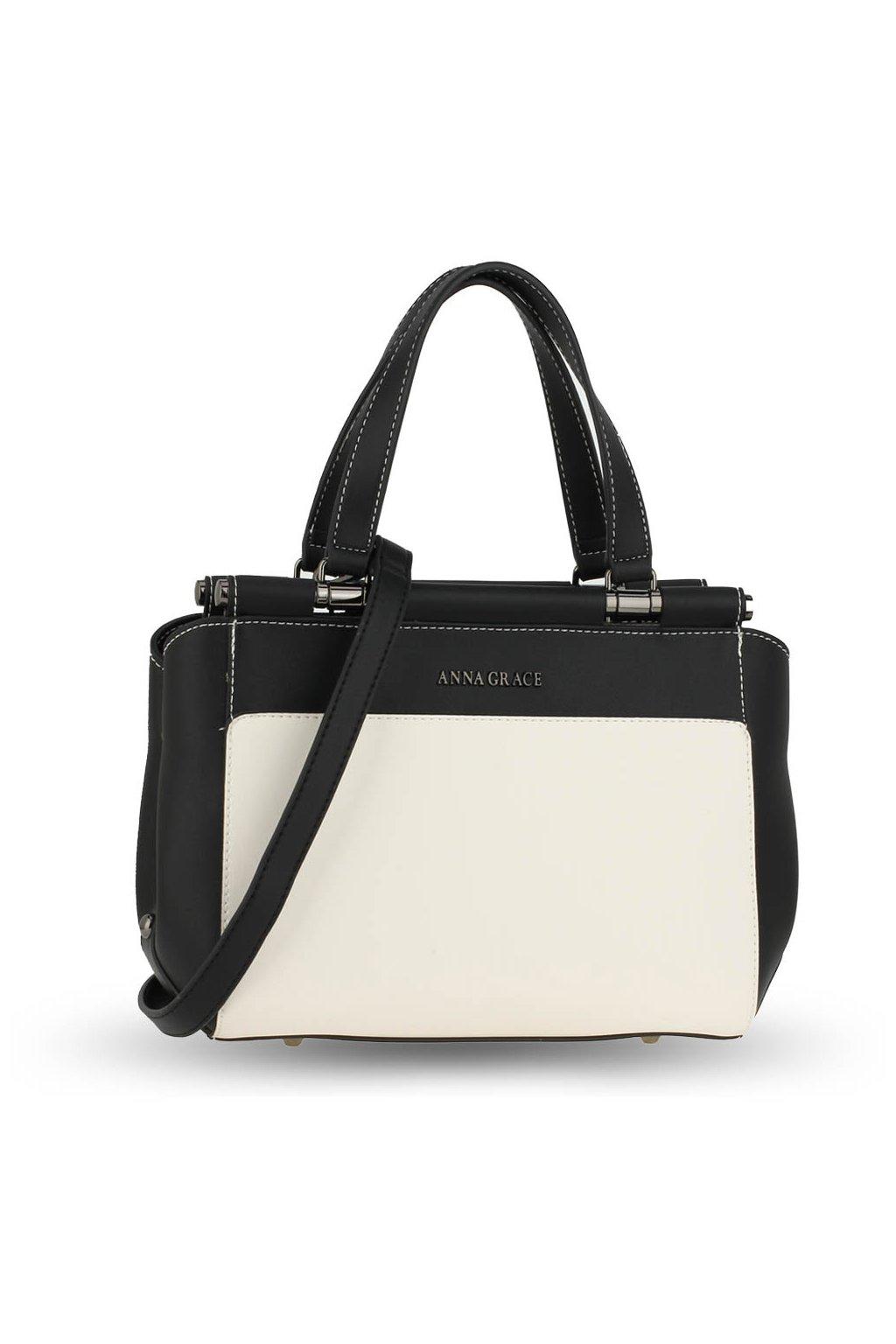 Trendy kabelka do ruky Georgia béžová / čierna / čierna AG00694