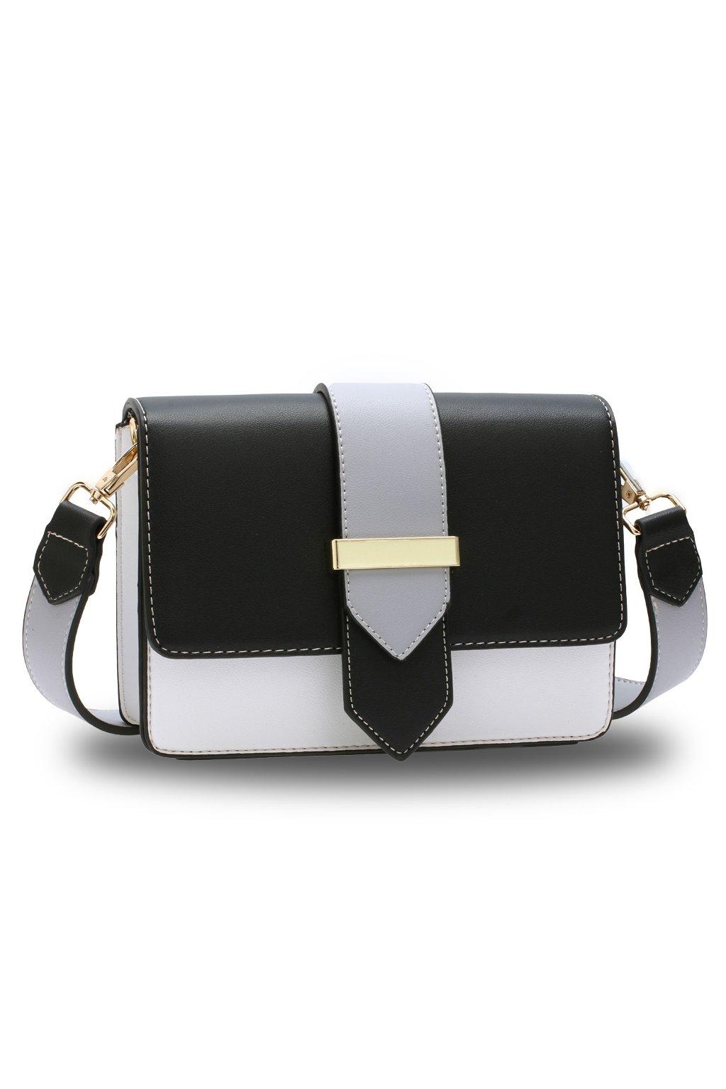 Crossbody kabelka čierna / biela / sivá Kaylee AG00692