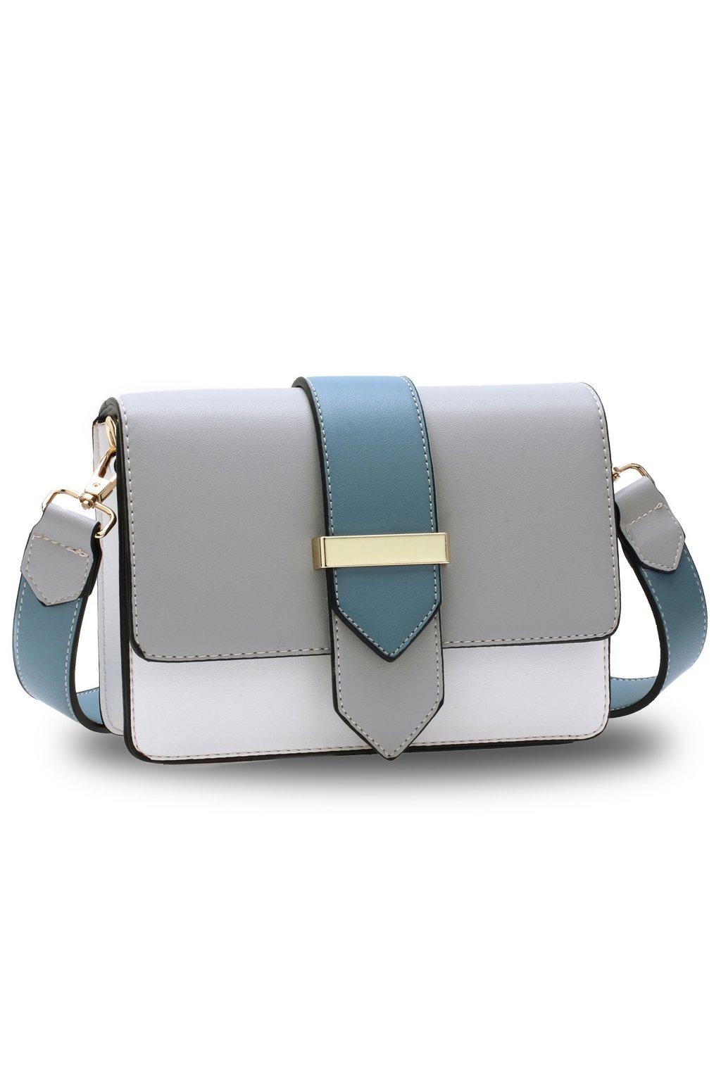 Crossbody kabelka modrá / biela / sivá Kaylee AG00692