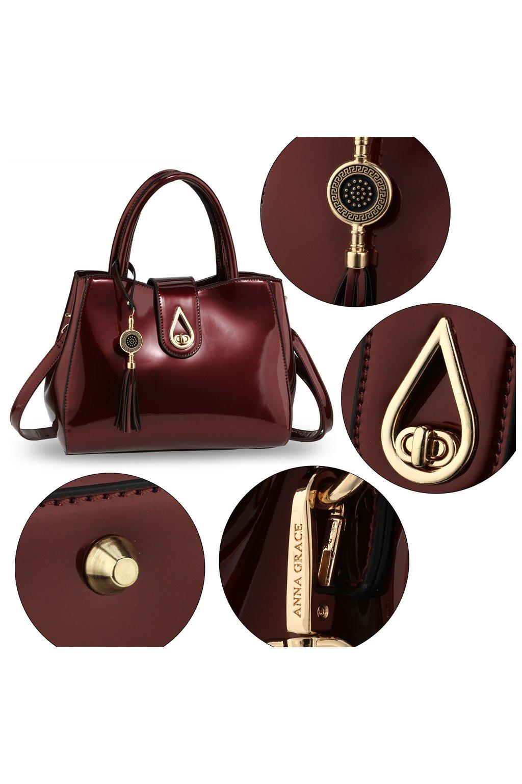 Trendy kabelka do ruky Lilliana bordová AG00650 1a92131bbfe