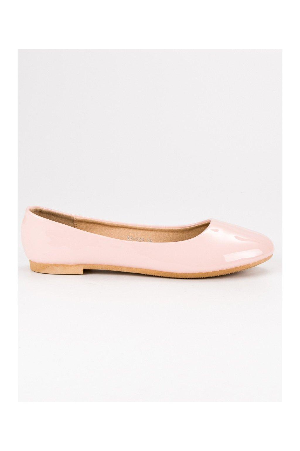 Ružové baleríny lakované TopShoes