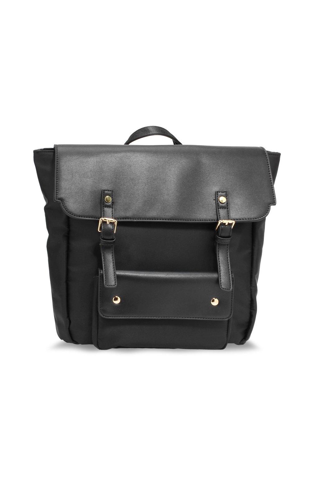 Dvojfarebný ruksak Lilianna čierna AG00617