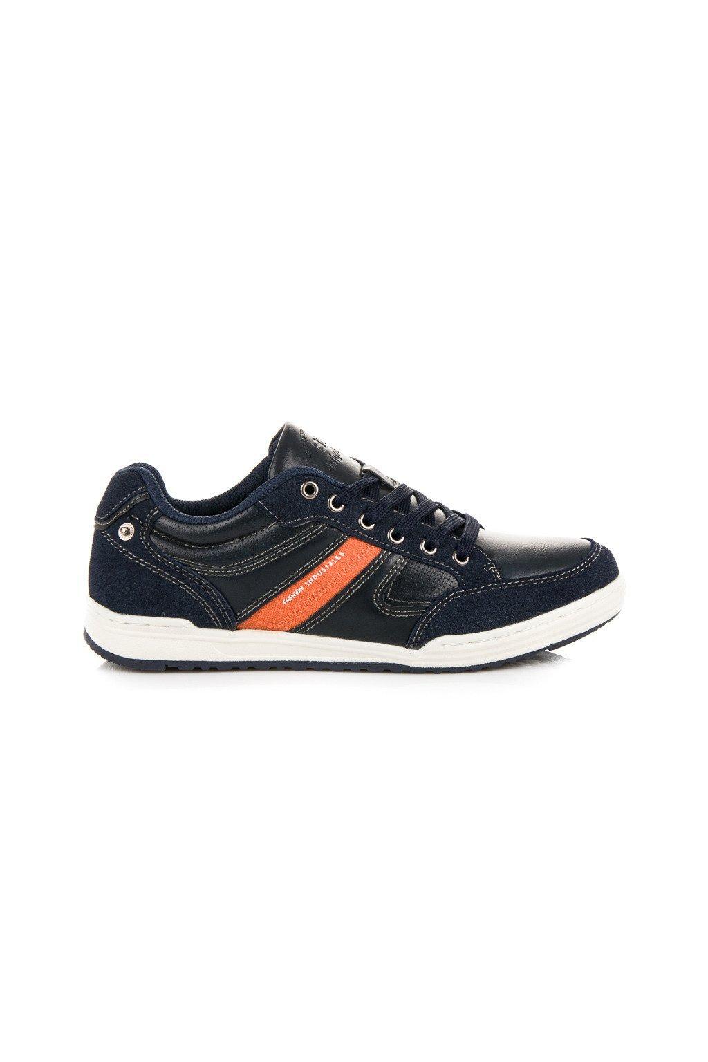 Casual pánske topánky Carol modré A87161N