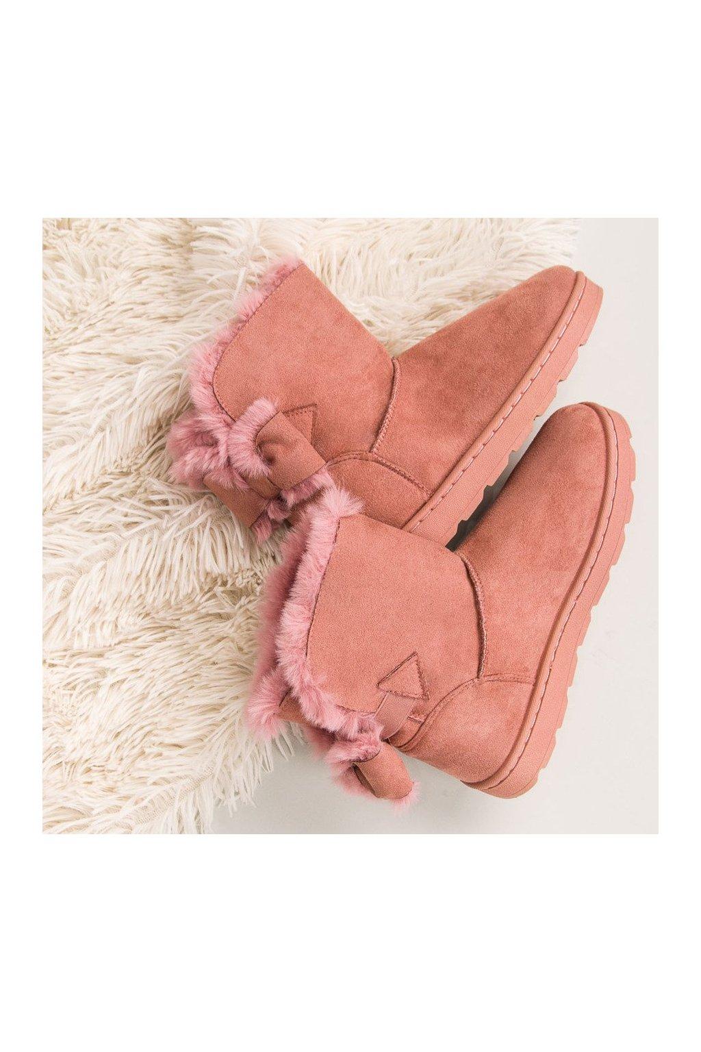 Ružové dámske snehule LT923P f3f4f5ee17