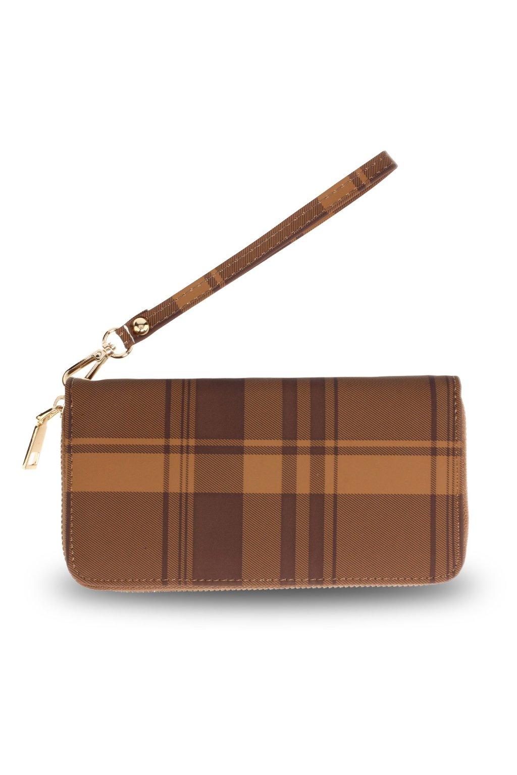 Károvaná kávová peňaženka Kaylyn AGP5010