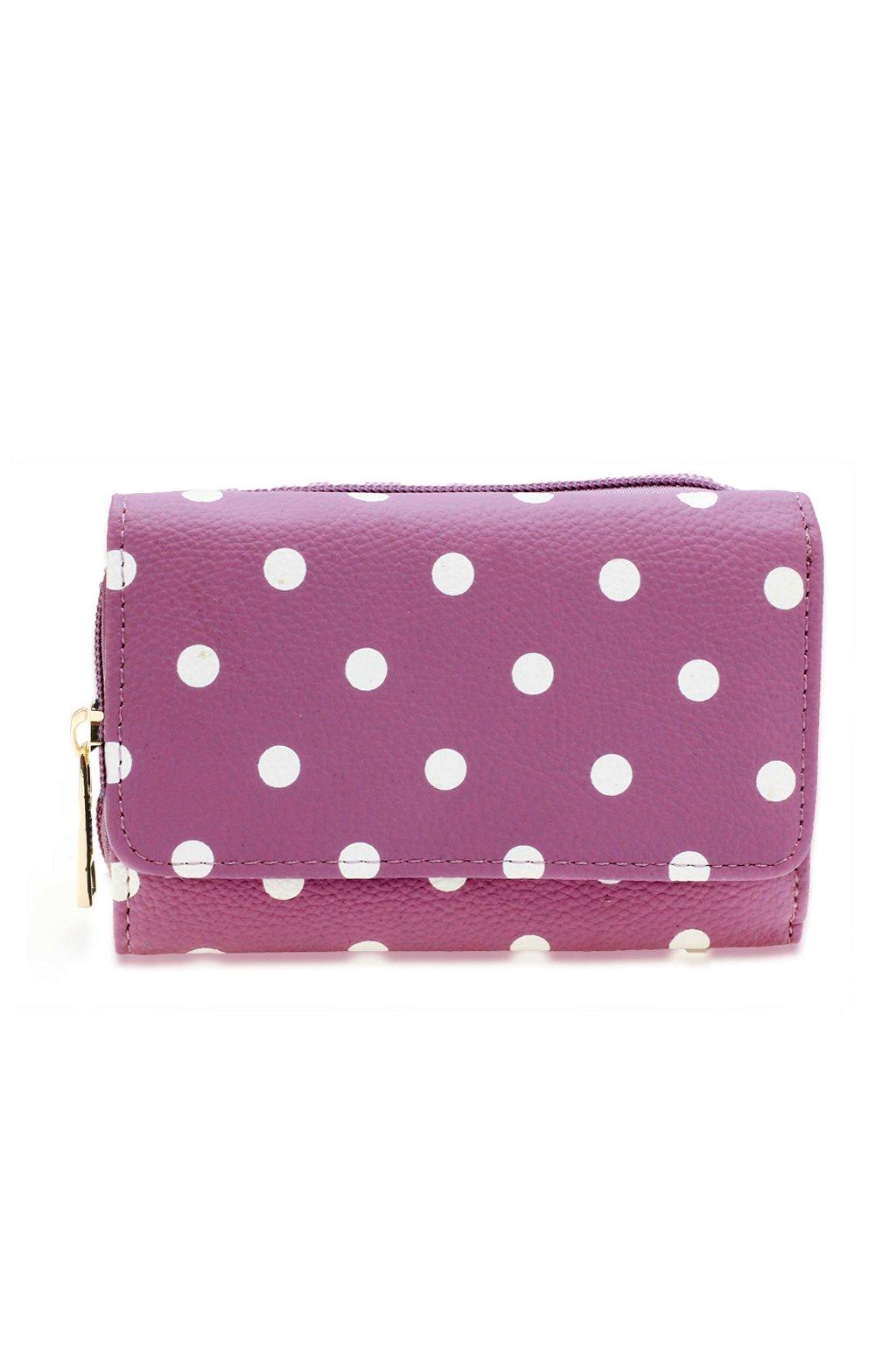 Fialová peňaženka pre ženy Polka Dot AGP1045B