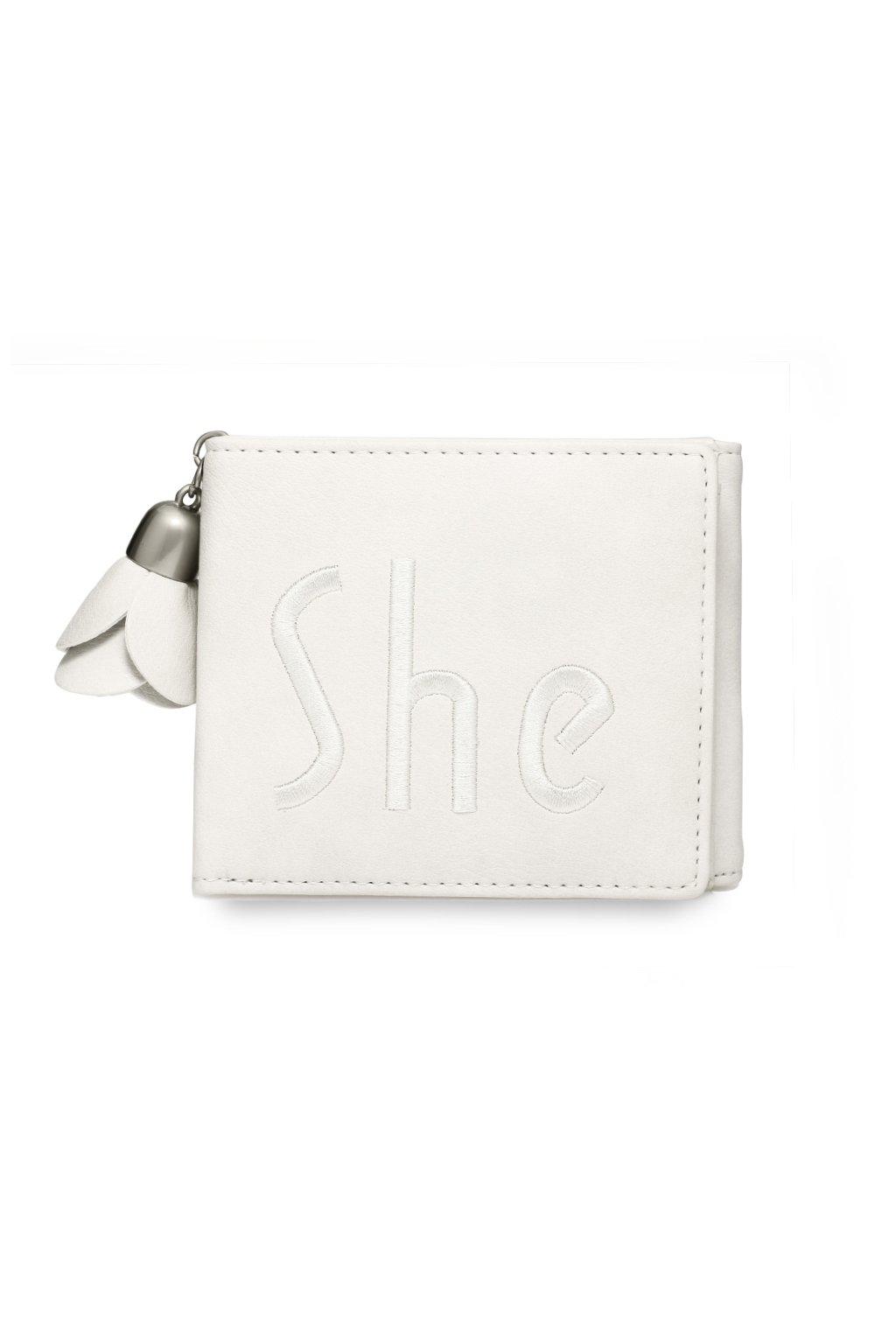 Slonovinová biela peňaženka pre ženy Trifold AGP1104