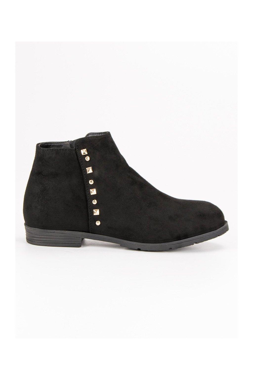 Nízke čierne toNízke čierne topánky dámske členkové čižmy ... 993b0e4889e