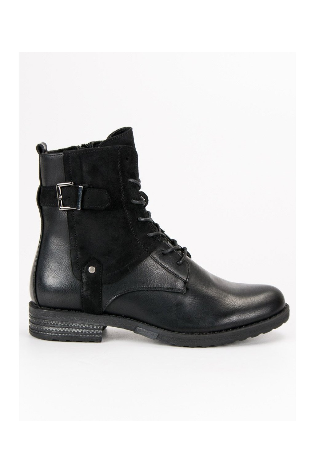 Dámske čierne topánky štýlové workery s prackou Filippo dfe65e9361f