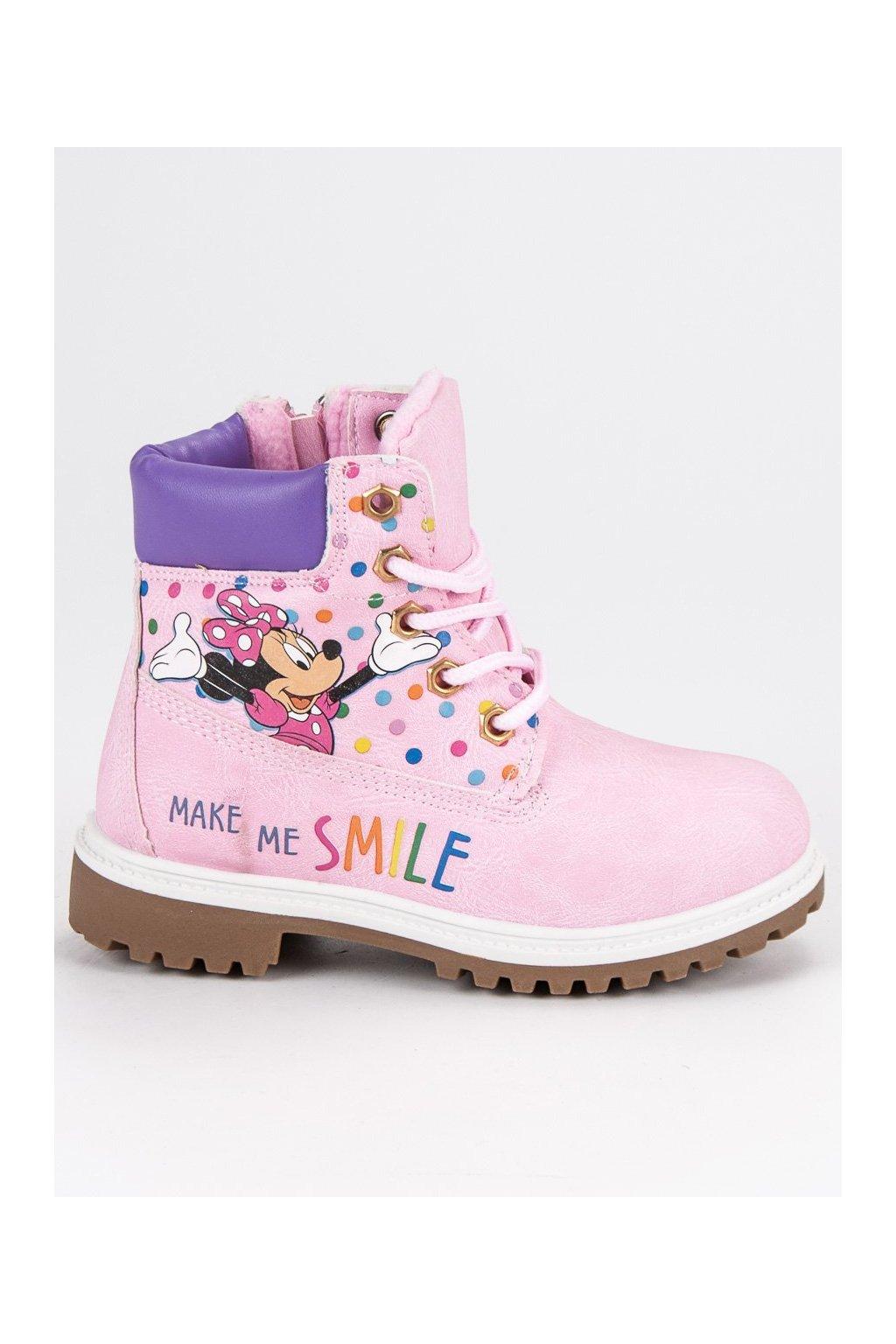 Detské ružové topánky trapery MICKEY MOUSE CnB