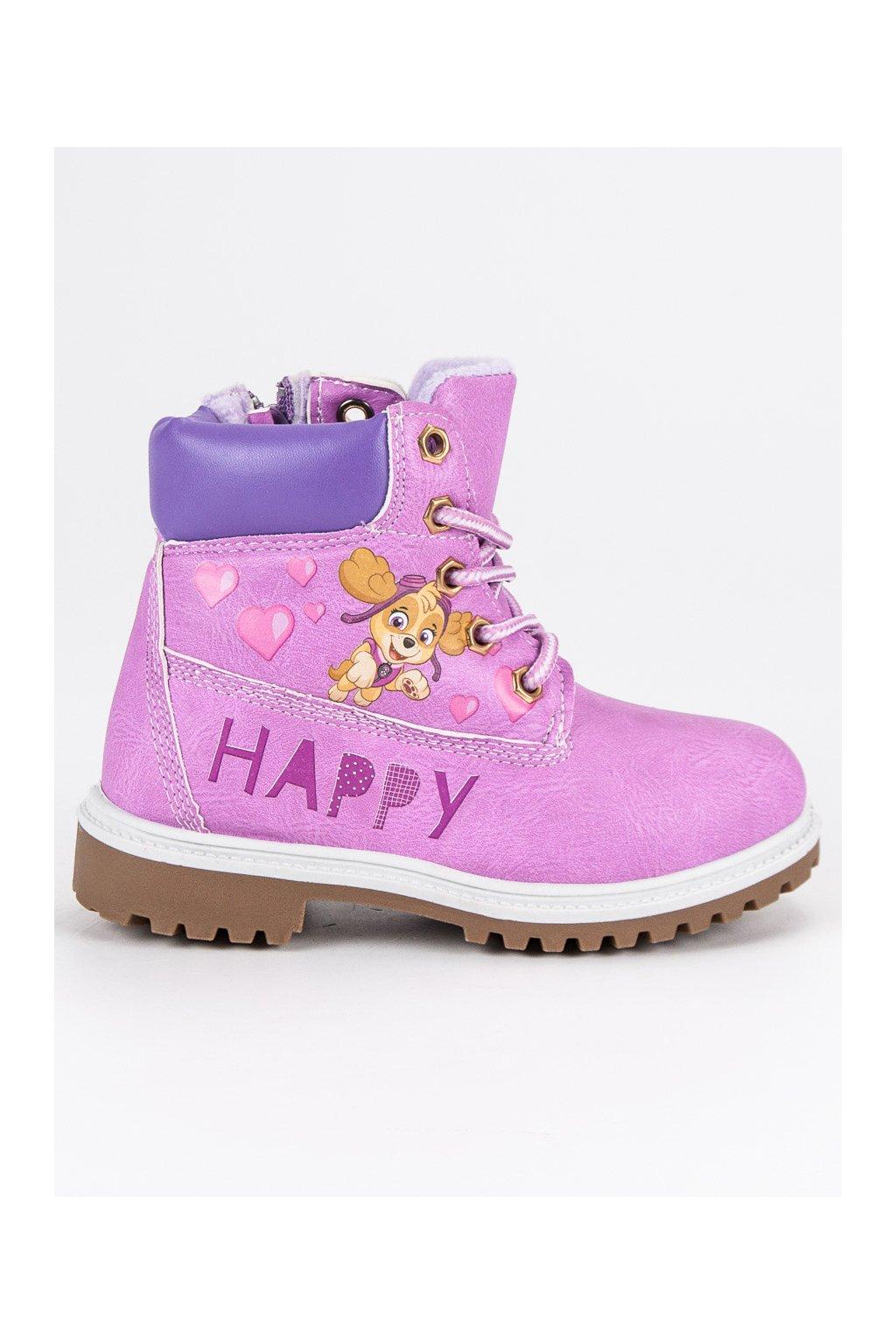 Detské fialové topánky trapery CnB