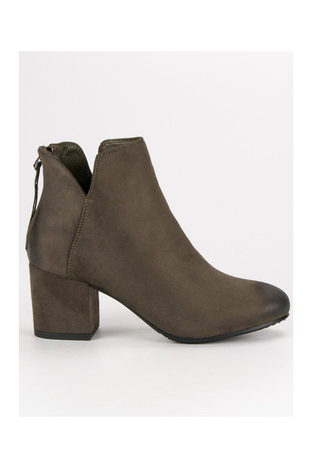Zelené topánky pre ženy členkové čižmy VINCEZA 6fd261ab269