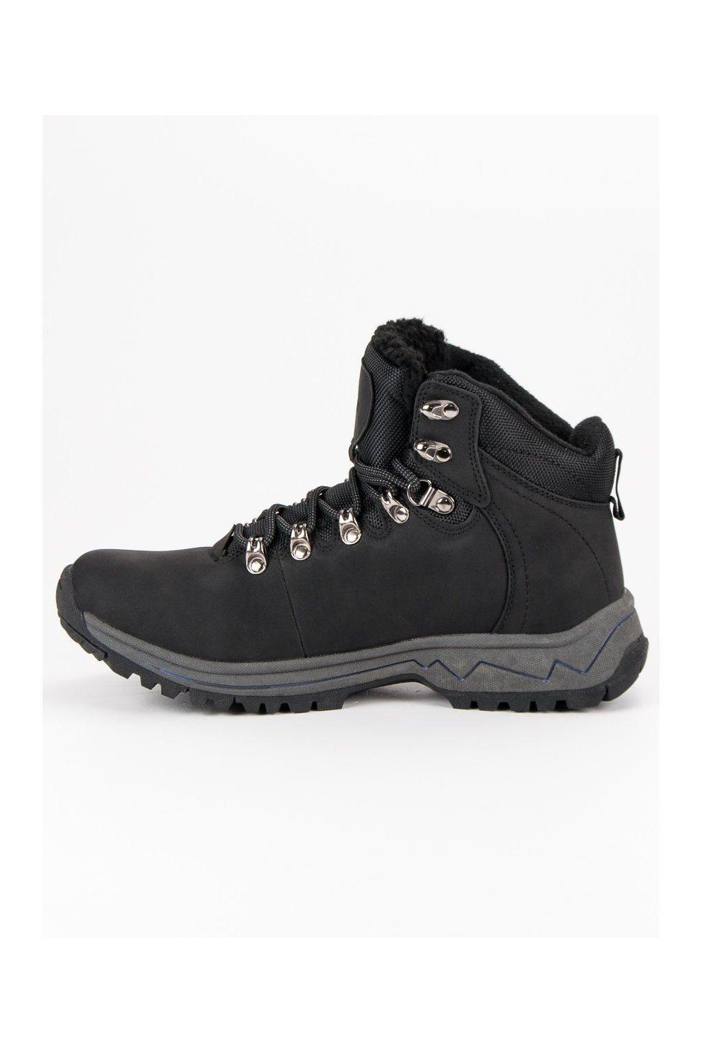 Zimné pánske topánky McKeylor čierne WAL19-12620B 8b084f142c0