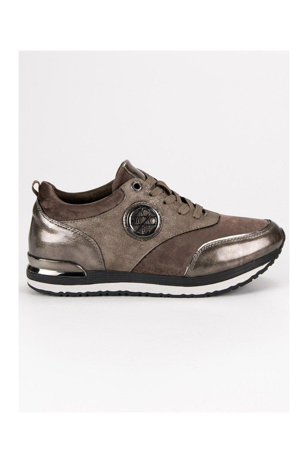 Béžové tenisky dámska športová obuv zo semišu Aclys b88ec5ee377