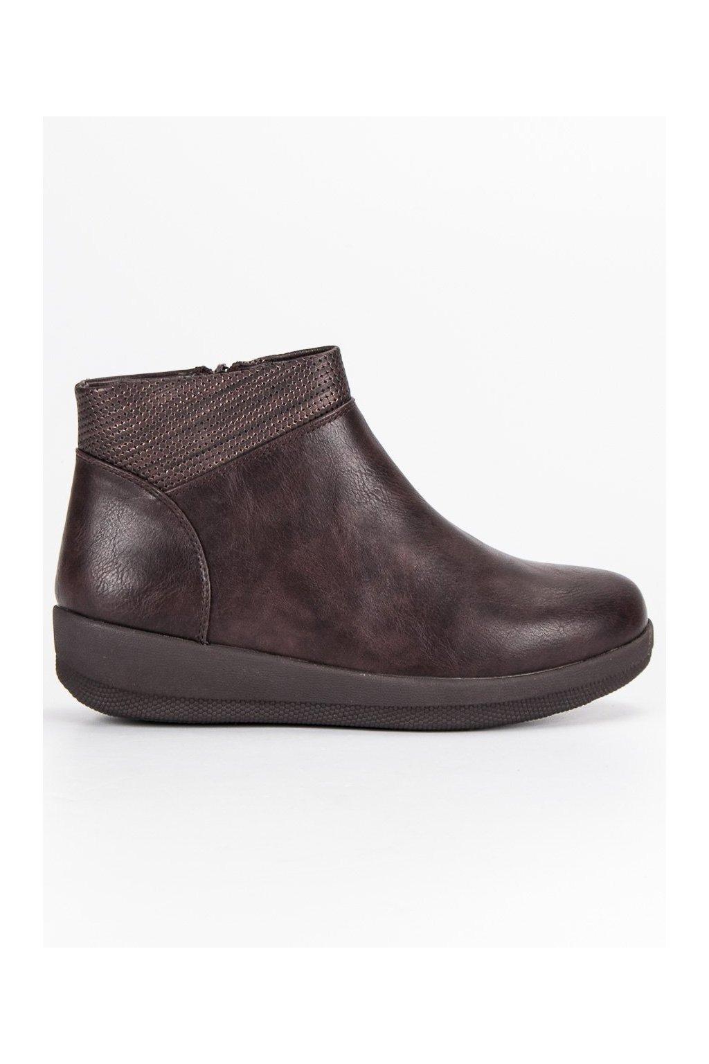 6b1d5f852b472 Dámske hnedé jesenné topánky Kylie