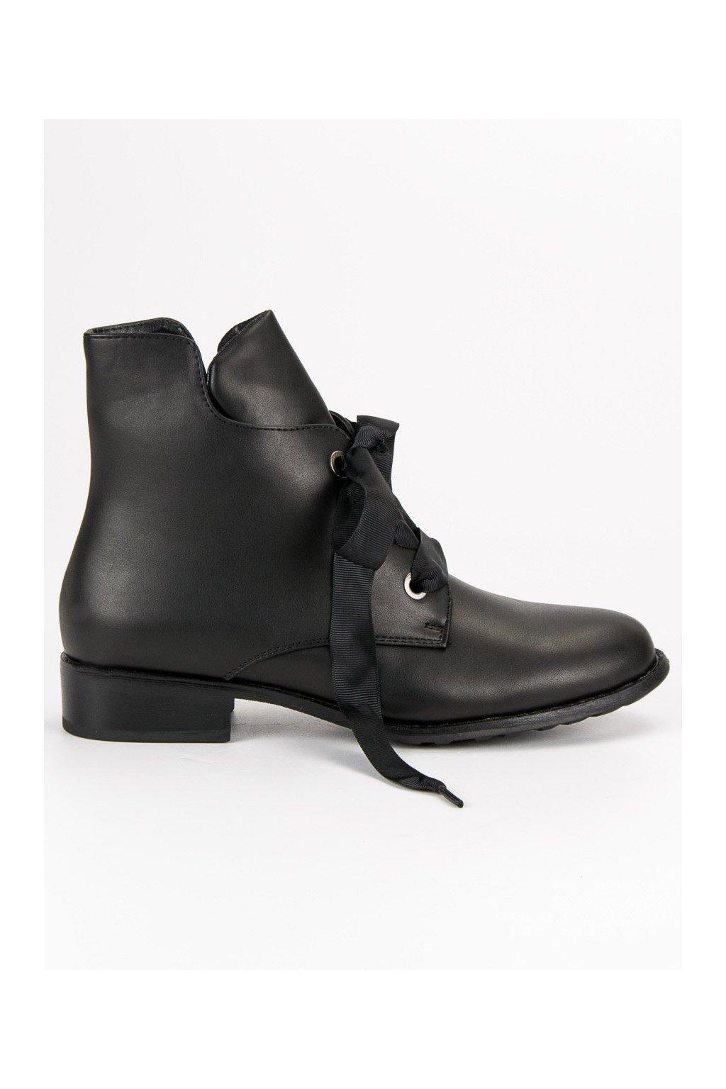 Čierne topánky so stuhou Fillippo