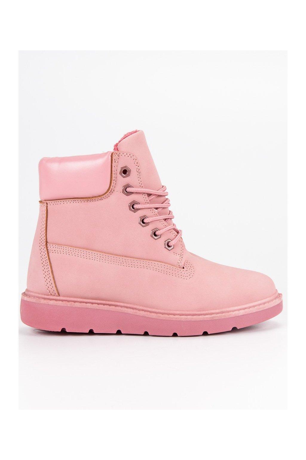 Trendy topánky trapery ružovej farby Small Swan 603b431a8b6