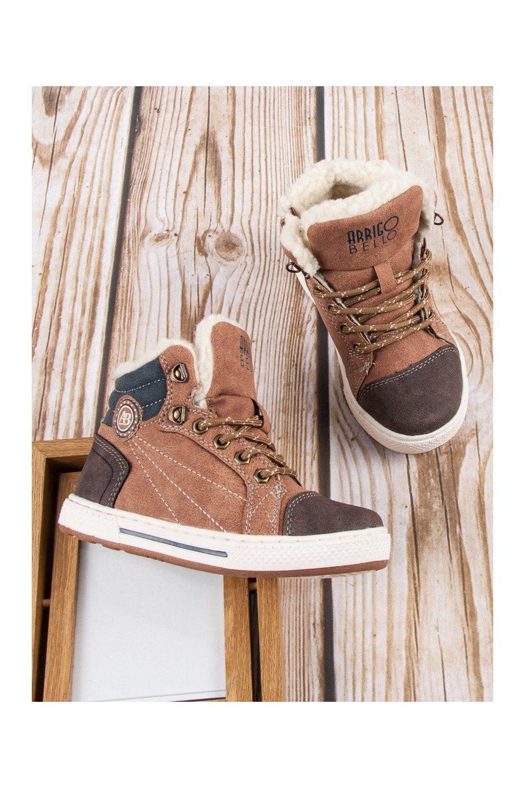 Zimné topánky s béžové zateplené topánky Arrigo Bello