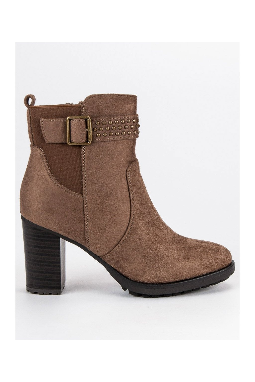 Béžové topánky na vysokom opätku Super Me a48d1b894b6