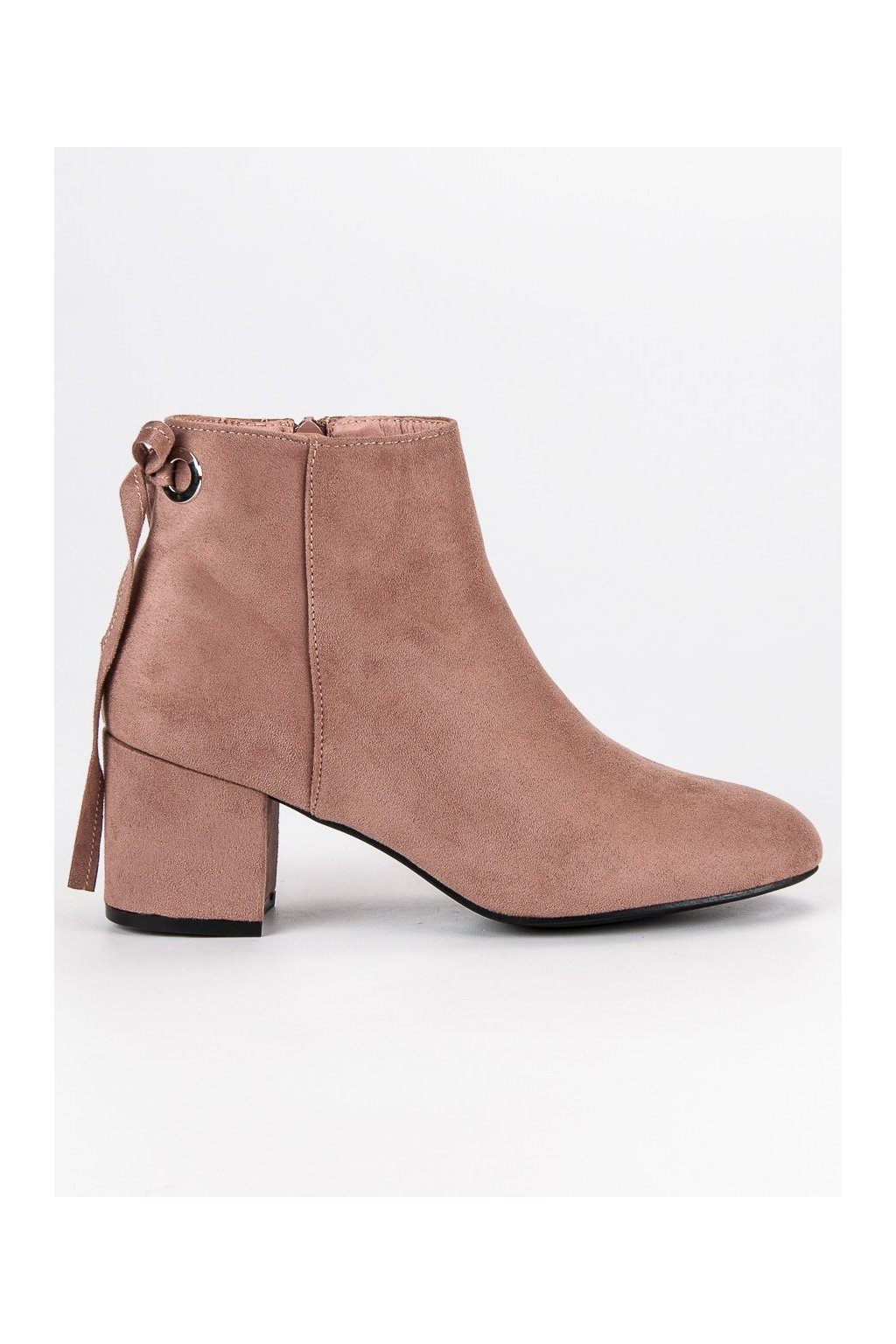 Klasické topánky ružové členkové čižmy semišové CnB 684e5fc8727