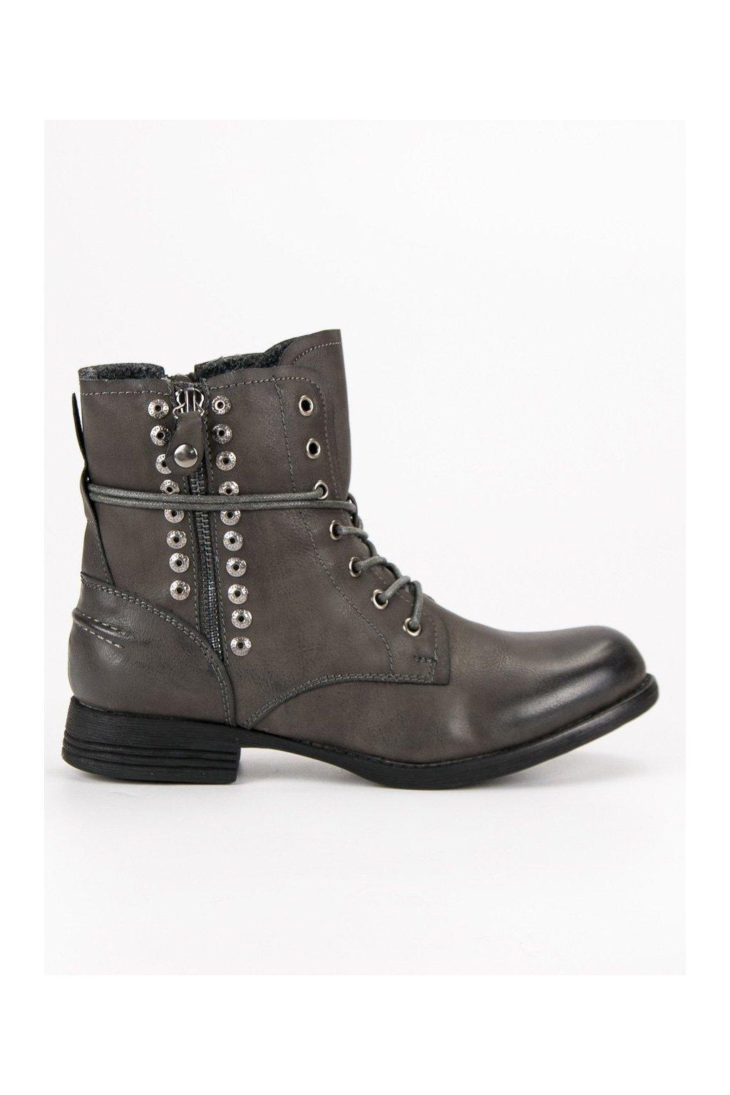 Sivé rockové topánky Kayla c8d1be78aad