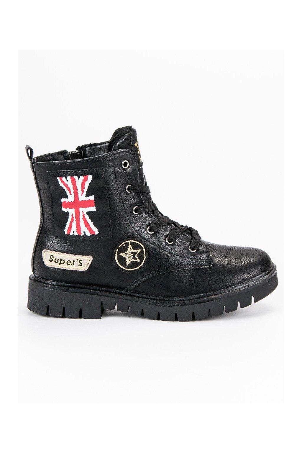 Čierne topánky pre dievča American Club