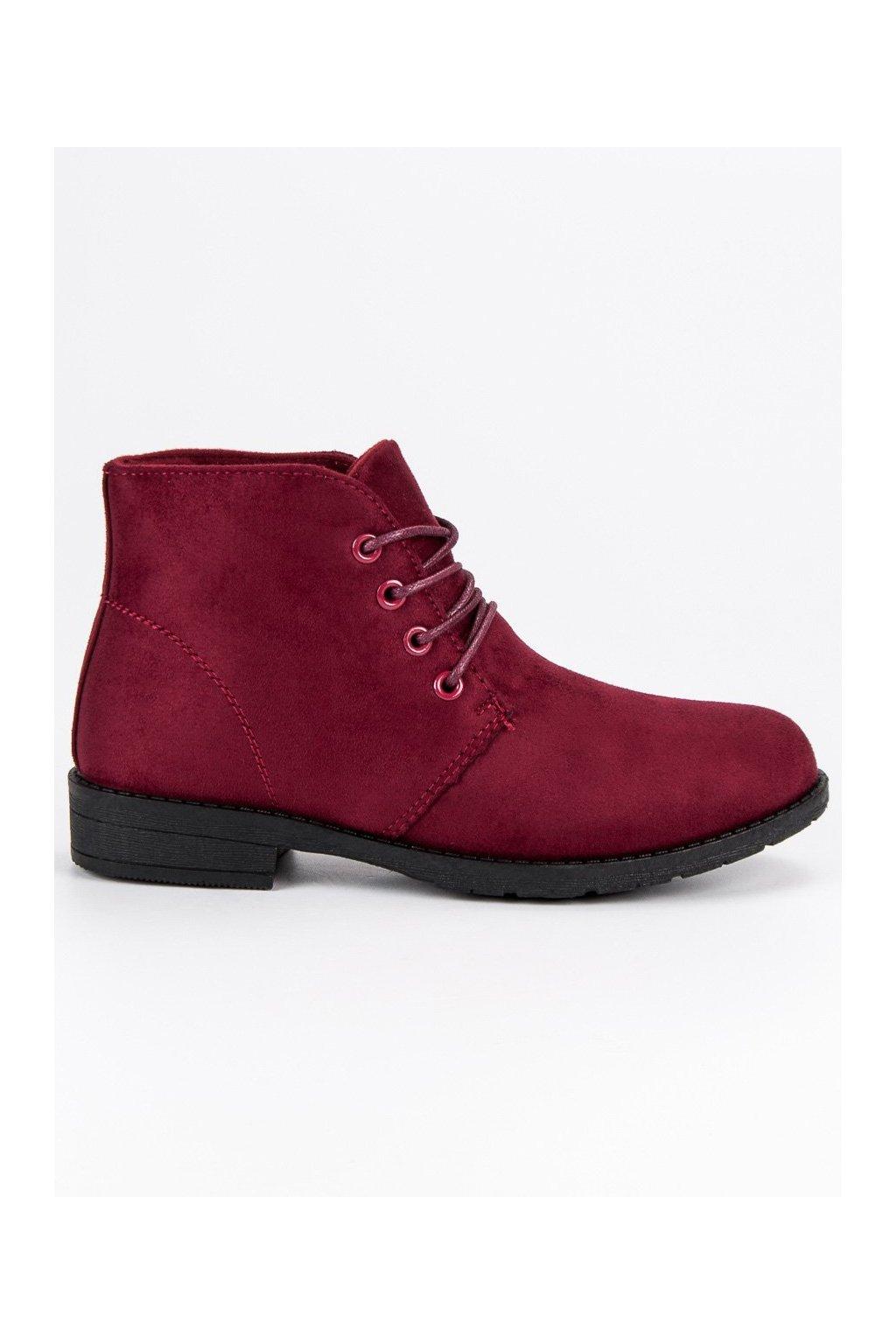 Dámske červené členkové topánky CnB 7675R 7220b3add39