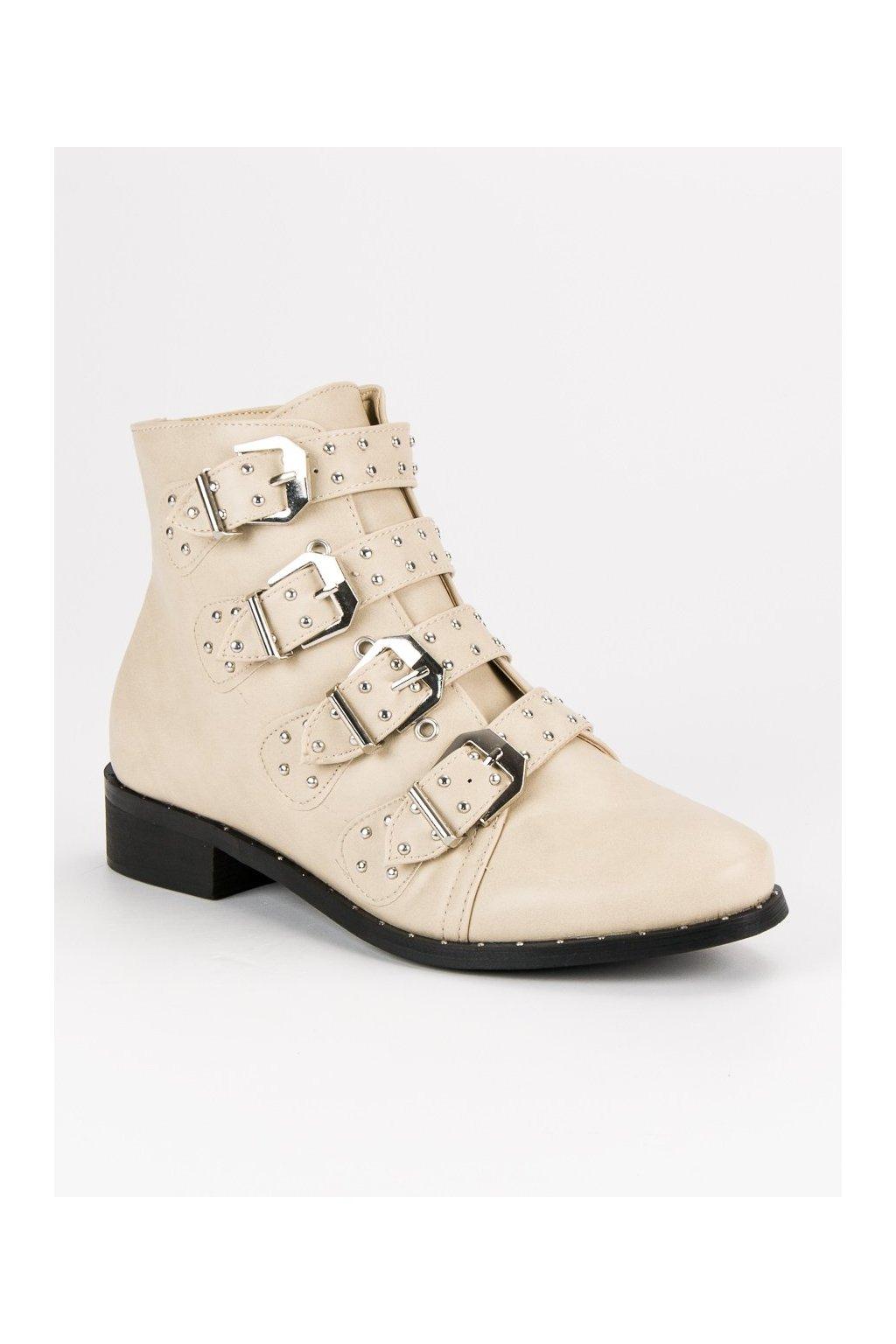 Béžové topánky v rockovom štýle CnB 2d3fae4d4b5