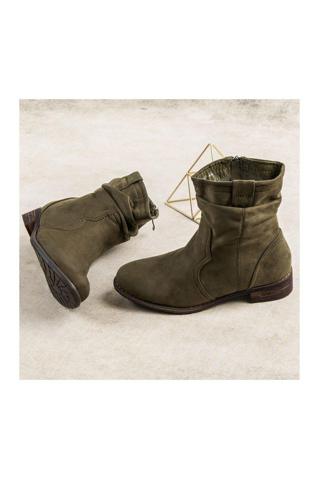 Olivové elegantné topánky Nio Nio 1cd3ab9270a