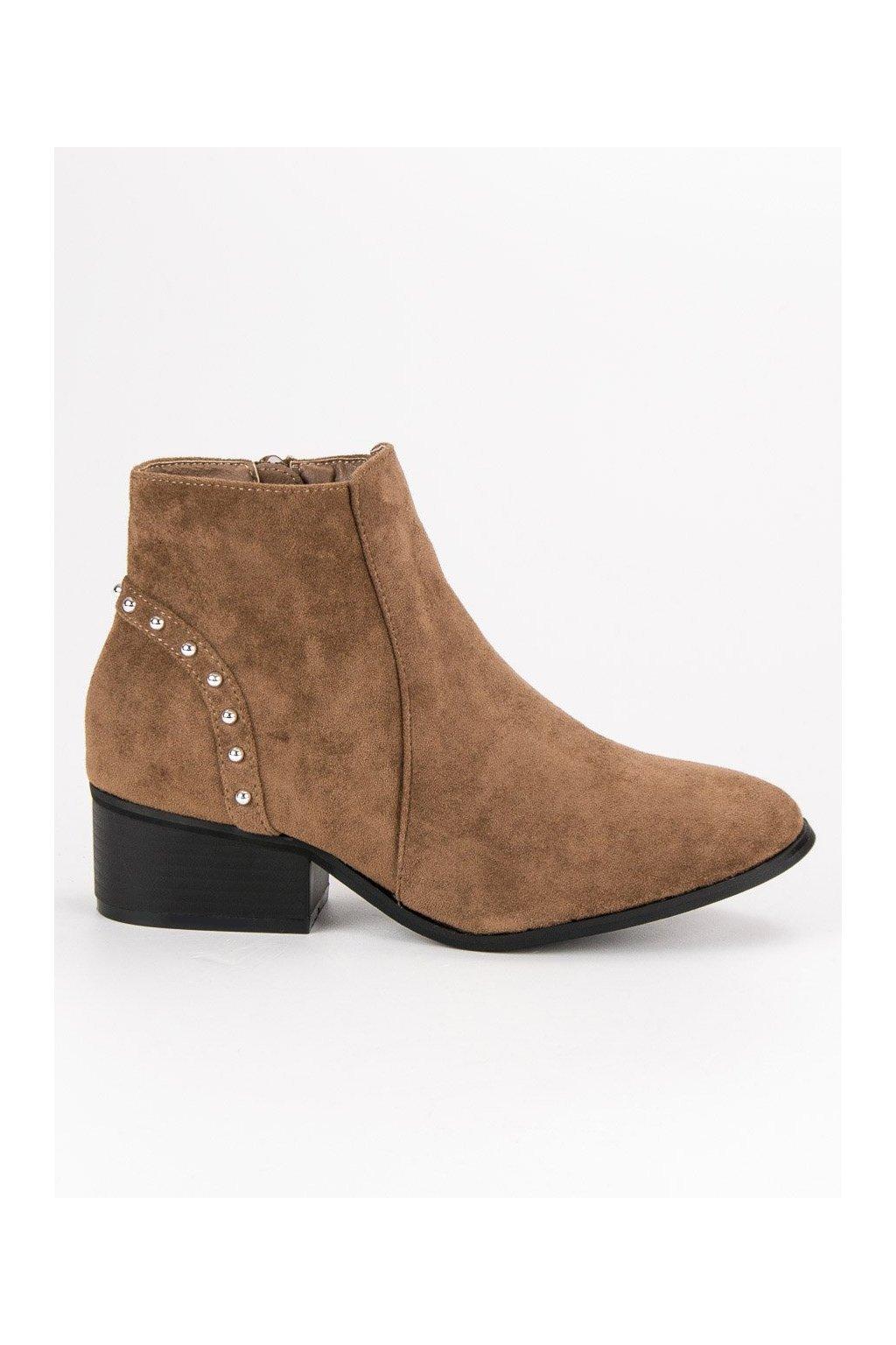 f6fdf22f7fe0 Béžové semišové topánky casual CnB AB8160KH