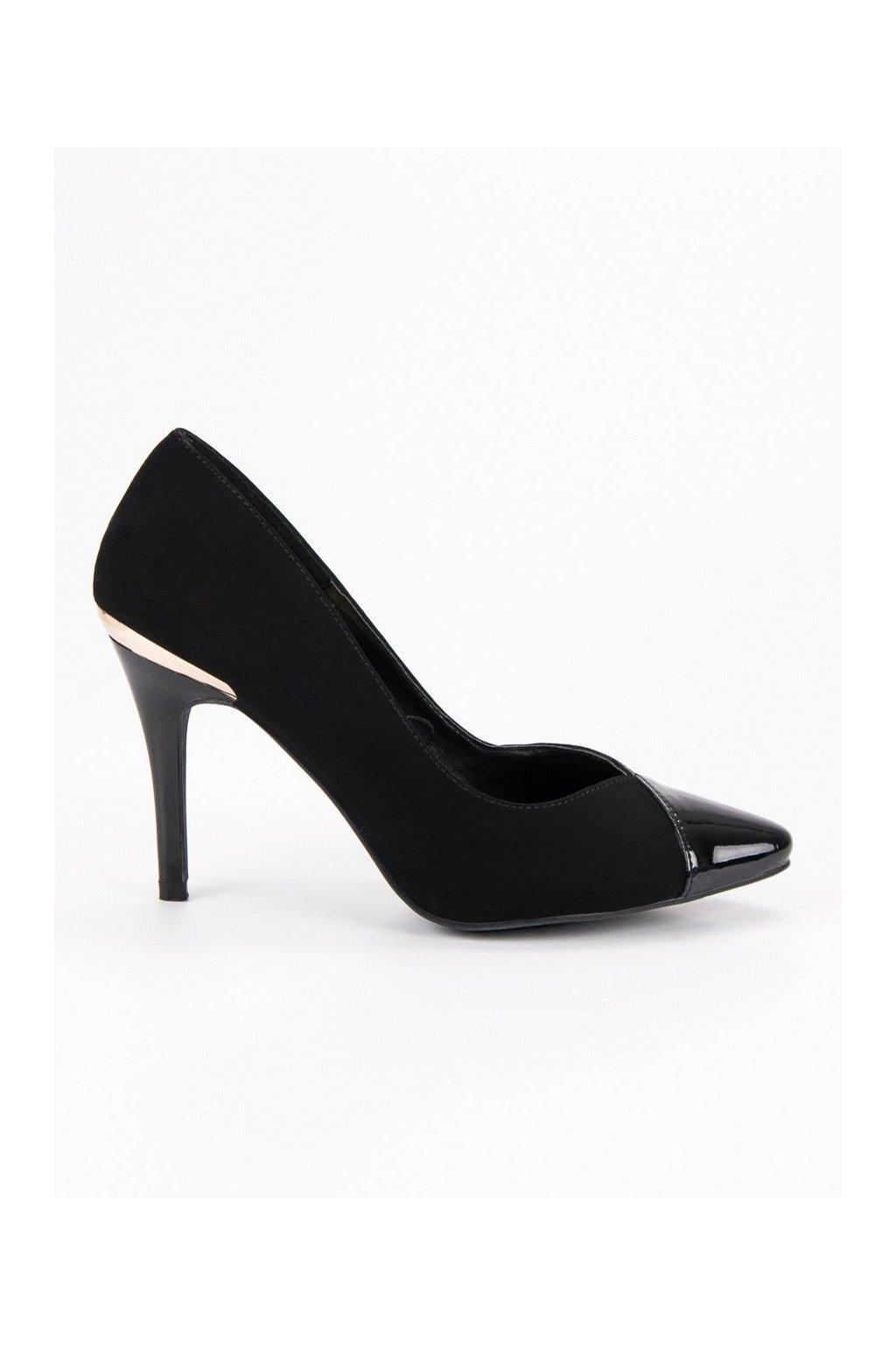 Elegantné čierne lodičky Potocki 970077f7db8