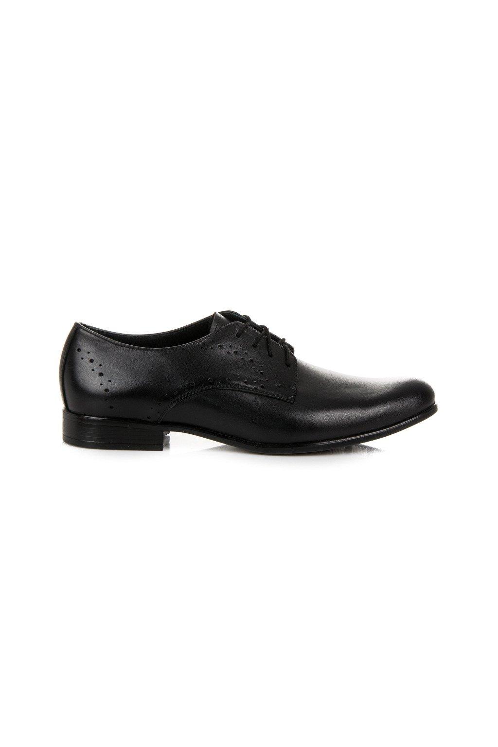 Čierne elegantné topánky Lucca
