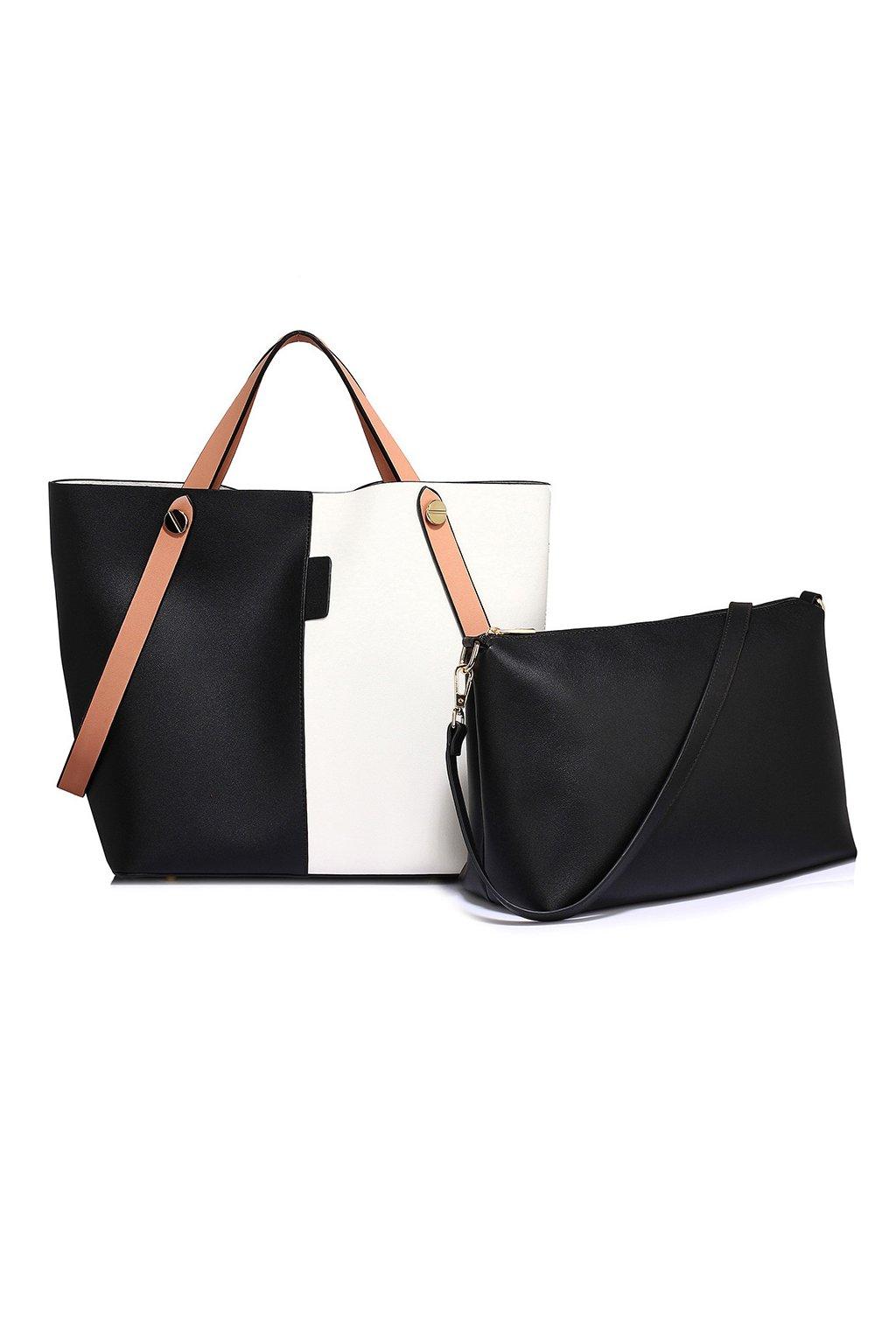 Trendy kabelka Netty bielo / čierna AG00198
