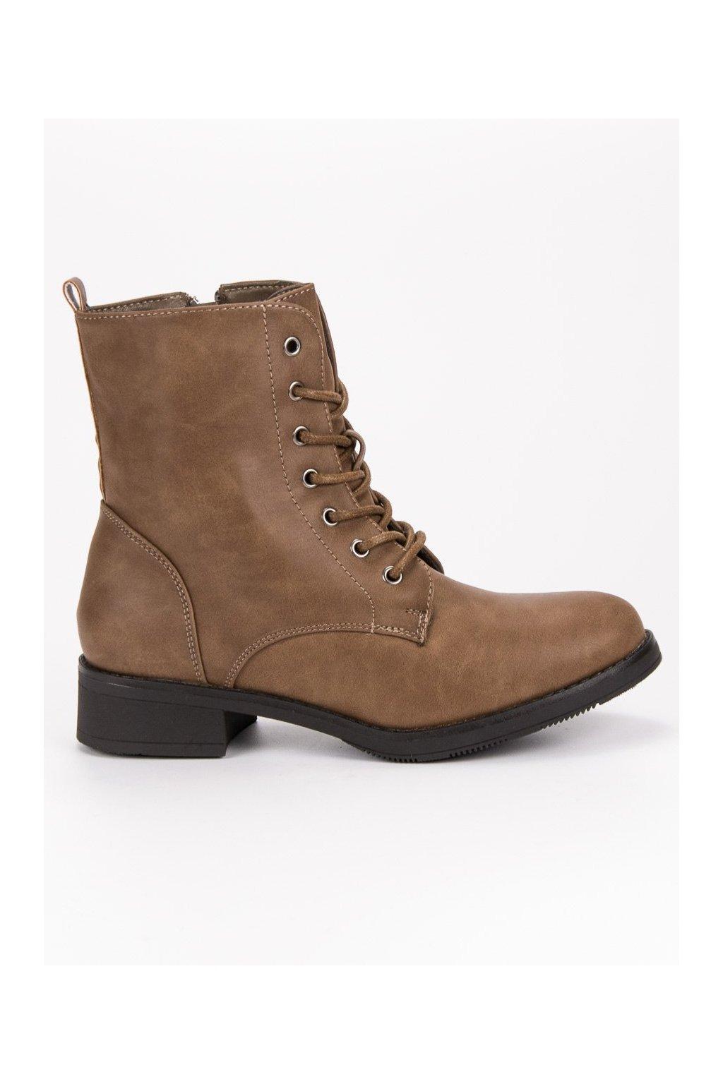 Hnedé zateplené topánky SDS W122H-KH 63c932abac0