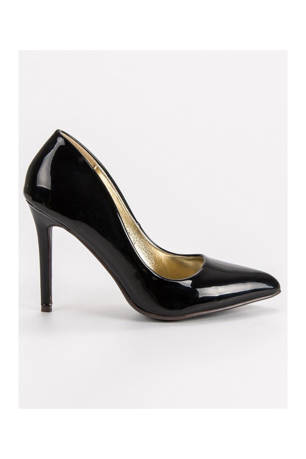 Lakované čierne lodičky Sweet Shoes 7e7c877253b