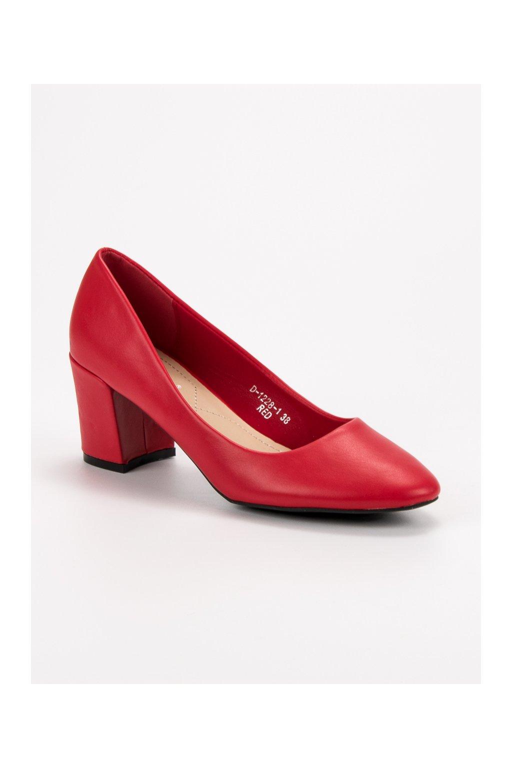 Klasické červené lodičky Ideal Shoes D-1228-1R  0e909a78d2
