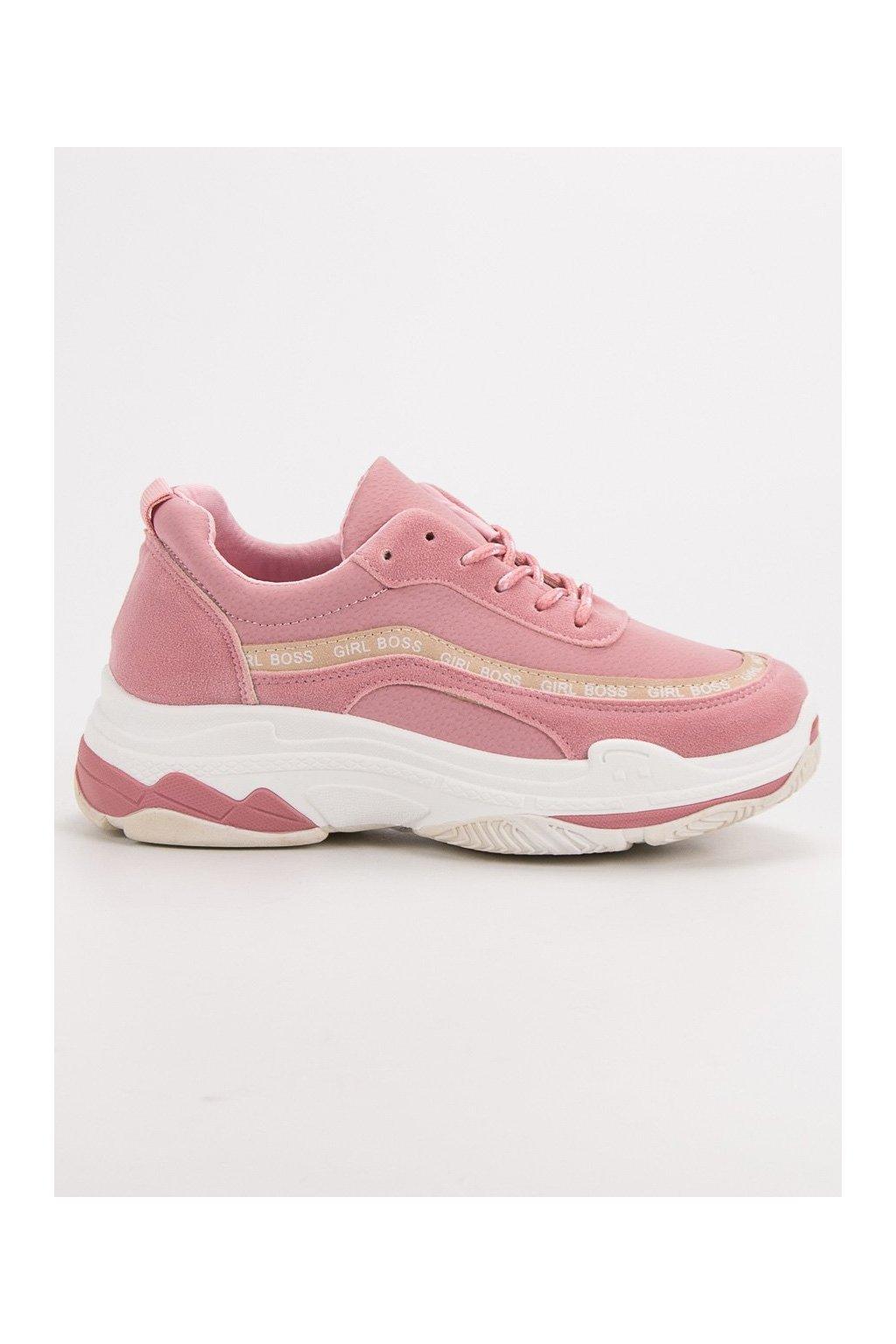 Športové ružové tenisky VICES