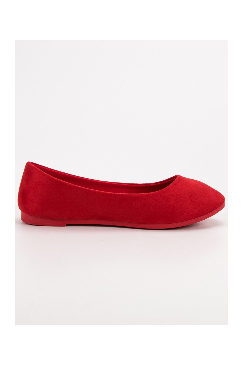 Klasické červené baleríny Vices