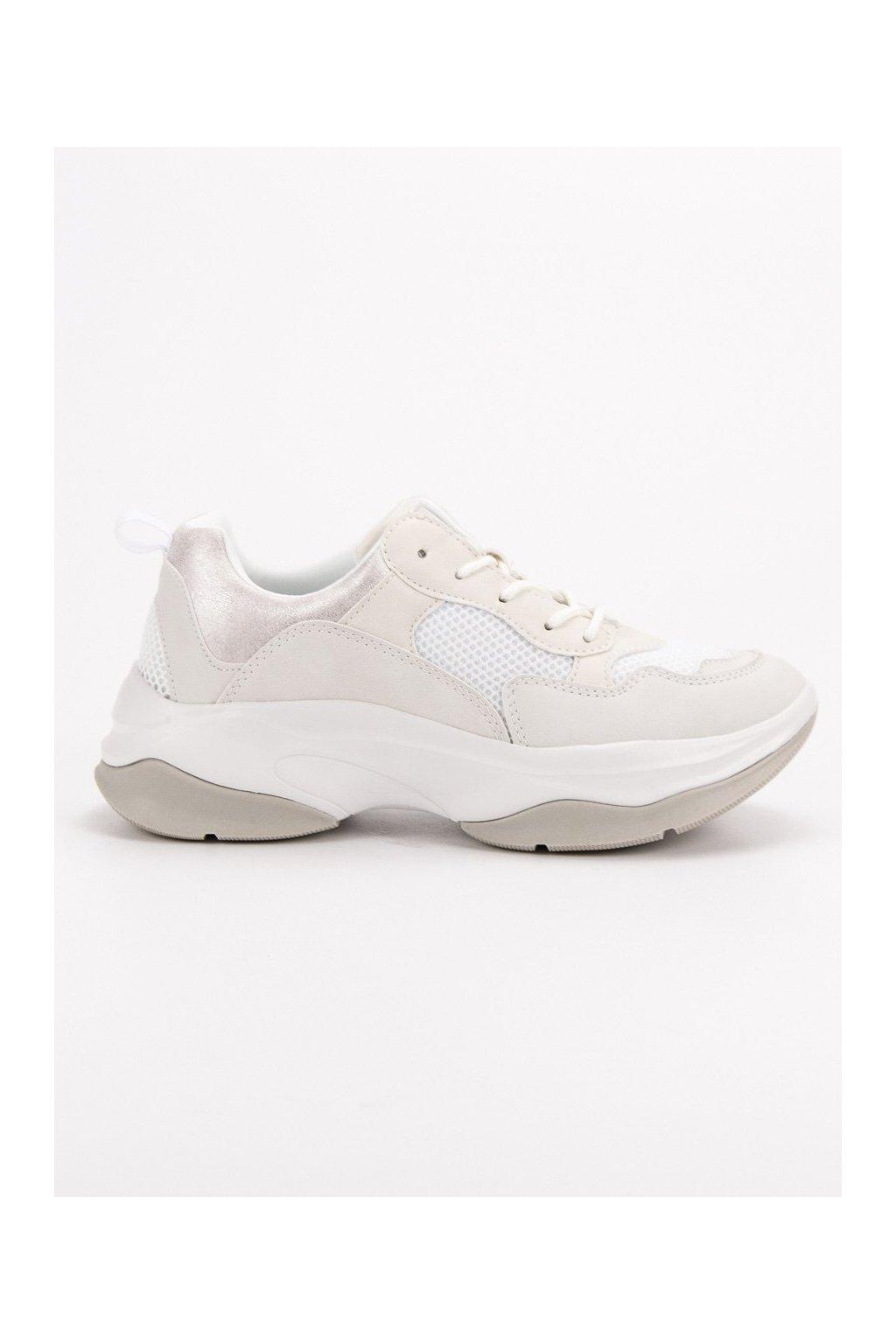 Módne biele tenisky sneakers Kylie