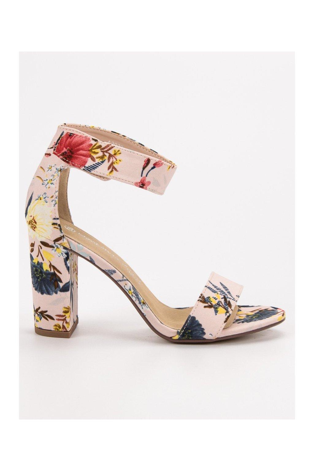 6a7953e2f43b Ružové dámske sandále na stĺpiku Ideal shoes A2923FL