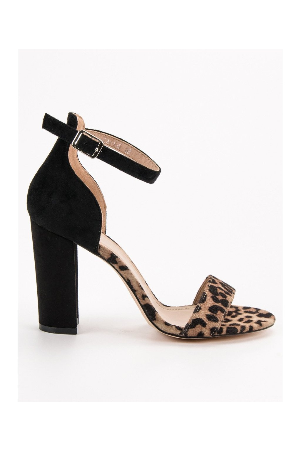 Hnedé dámske sandále na na stĺpiku Erynn CH00088LEO