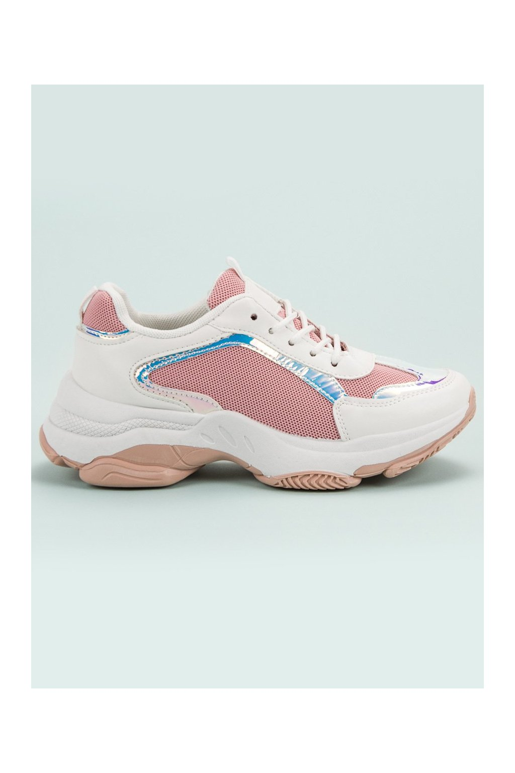 Bielo ružové dámske tenisky - Renda 2018-6P
