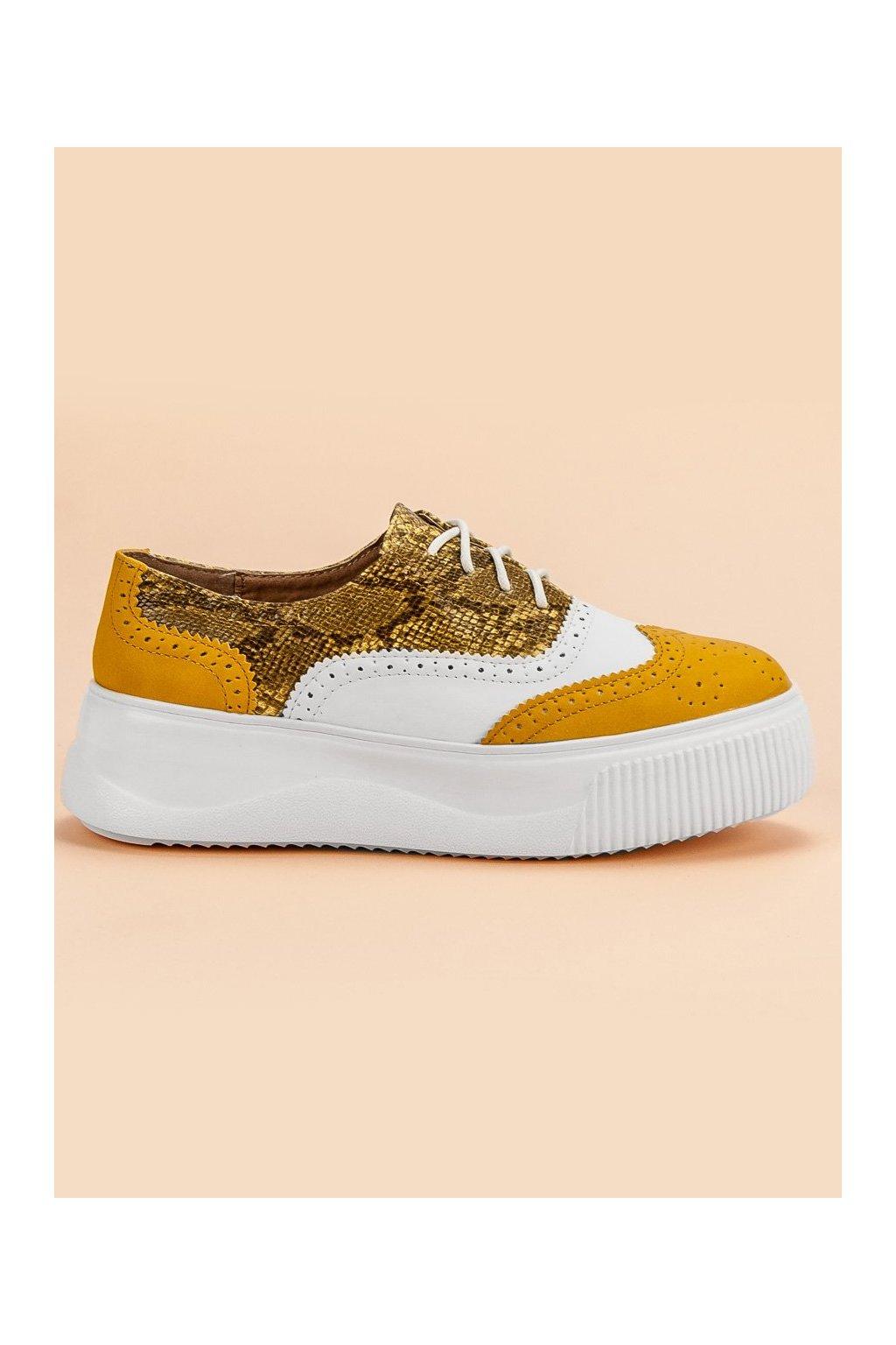 Módne žlté poltopánky fashion Vices