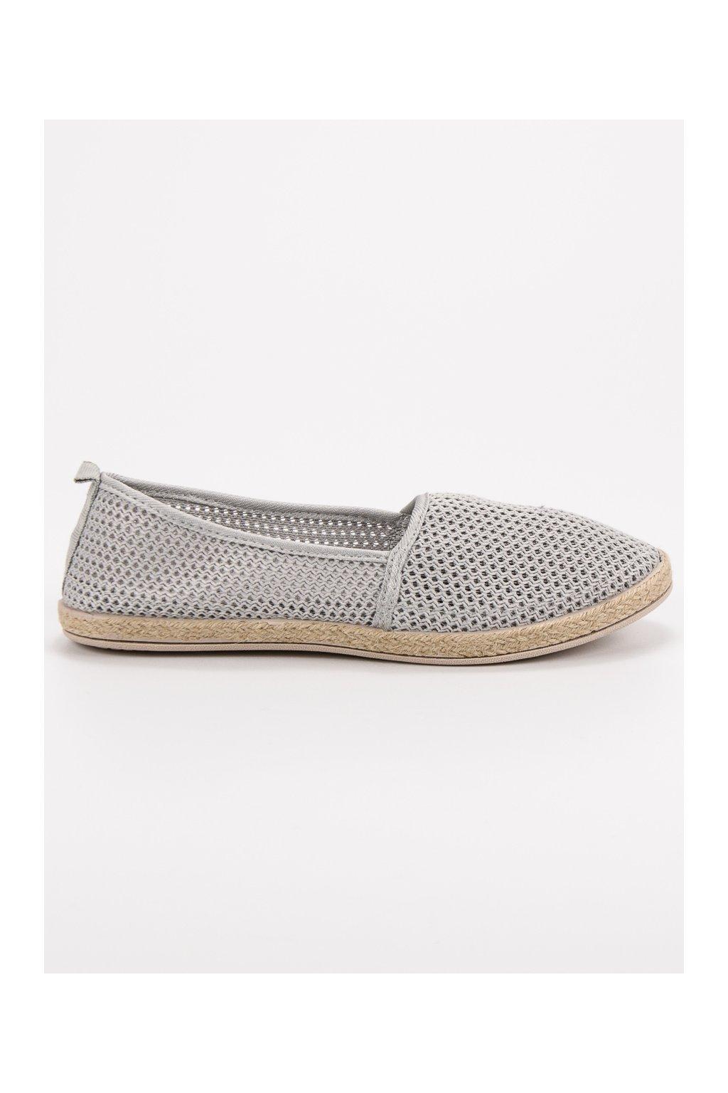 Sivé espadrilky Sweet Shoes