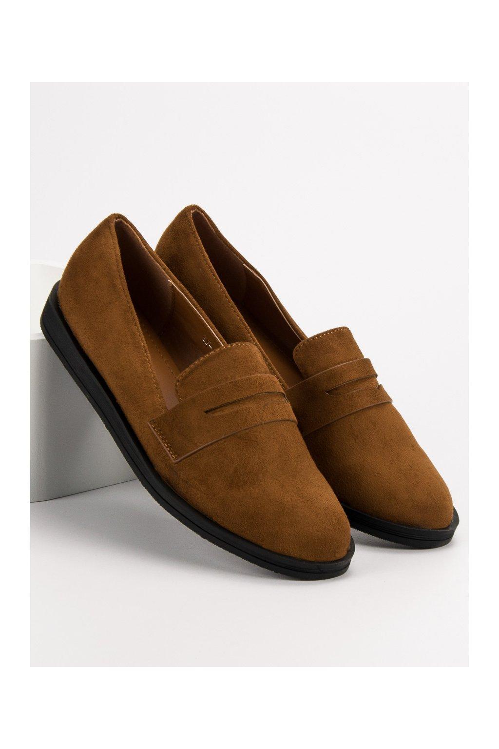 Hnedé mokasíny - Best shoes YJ-1K248C