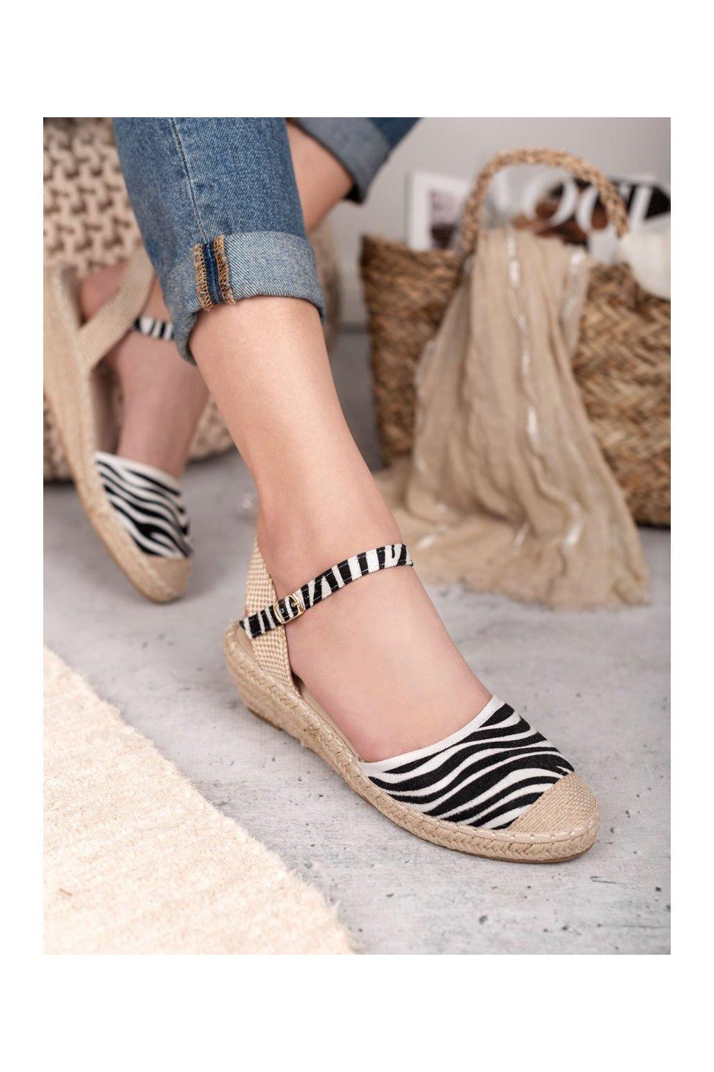 Tigrovane sandále na platforme Best shoes 3M88-53ST