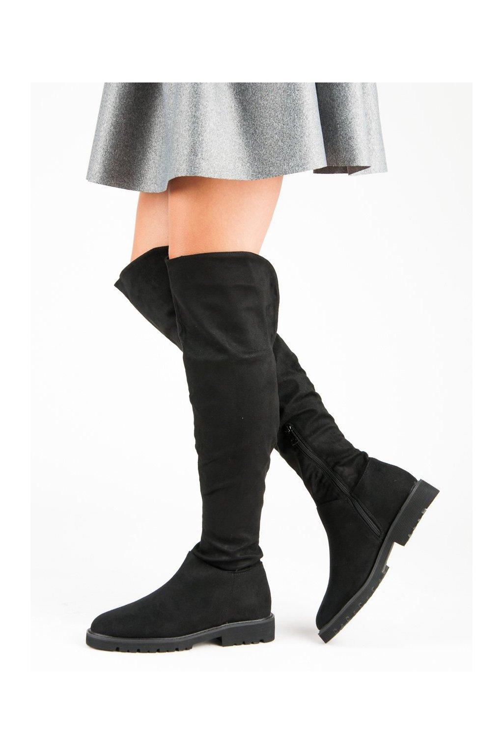 Čierne čižmy Kylie kod K1810104NE