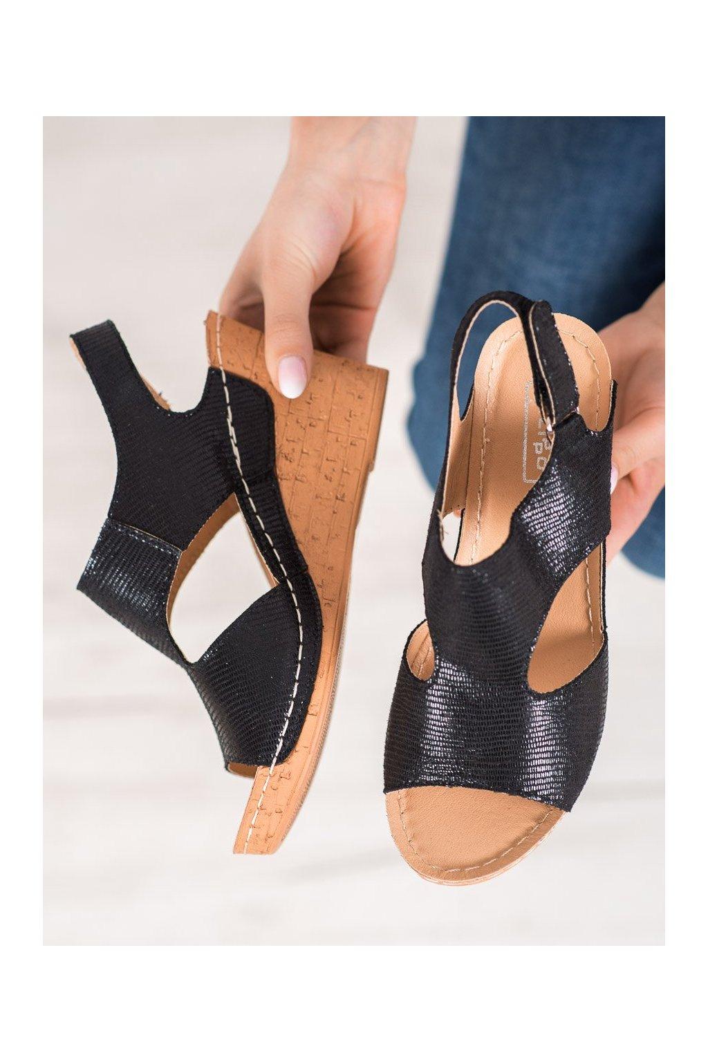 Čierne sandále Filippo kod DS785/19B