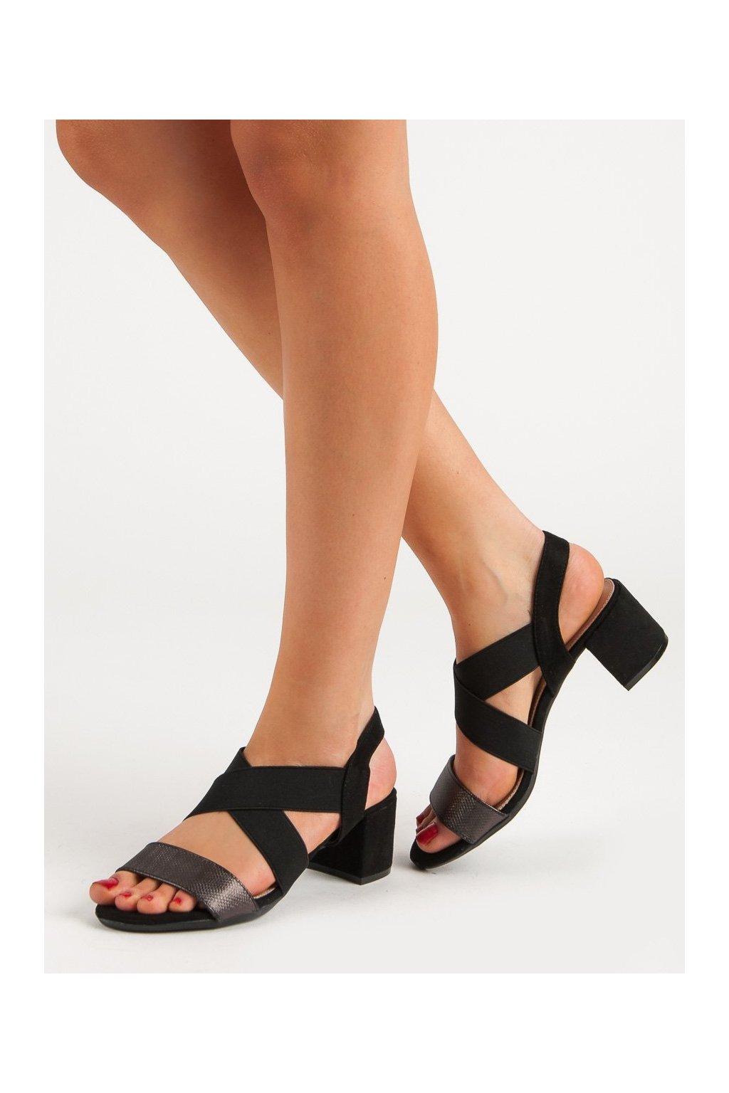 Čierne sandále Filippo kod DS789/19B