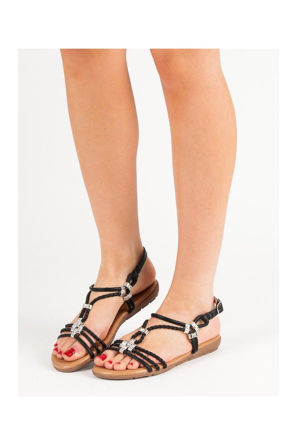 Čierne sandále Cm paris kod 839-739B